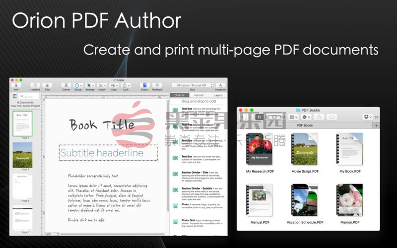 Orion PDF Author For Mac v2.97 用更简单的方式创造PDF