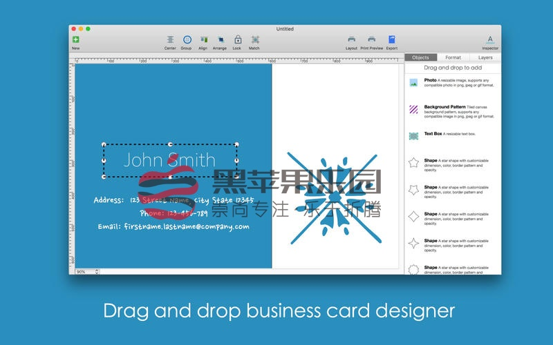 Blue Penguin Business Card Designer v.2.60.1 名片设计软件